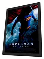 Superman Returns - 11 x 17 Movie Poster - Style B - in Deluxe Wood Frame