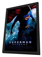 Superman Returns - 27 x 40 Movie Poster - Style B - in Deluxe Wood Frame