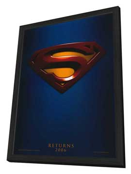 Superman Returns - 11 x 17 Movie Poster - Style A - in Deluxe Wood Frame
