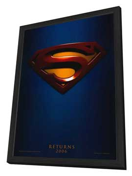 Superman Returns - 27 x 40 Movie Poster - Style A - in Deluxe Wood Frame
