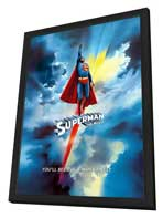 Superman: The Movie - 27 x 40 Movie Poster - Swiss Style A - in Deluxe Wood Frame