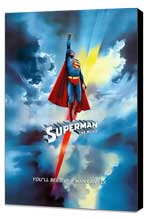 Superman: The Movie - 27 x 40 Movie Poster - Swiss Style A - Museum Wrapped Canvas