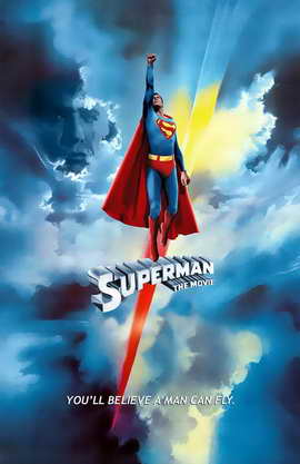 Superman: The Movie - 11 x 17 Movie Poster - Swiss Style A