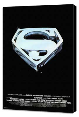 Superman: The Movie - 11 x 17 Movie Poster - Style E - Museum Wrapped Canvas