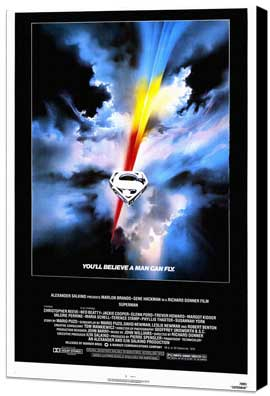 Superman: The Movie - 27 x 40 Movie Poster - Style A - Museum Wrapped Canvas