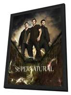 Supernatural (TV) - 11 x 17 TV Poster - Style P - in Deluxe Wood Frame
