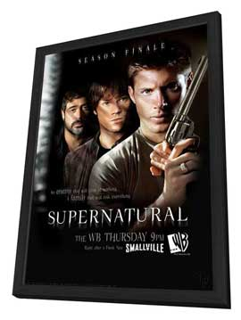 Supernatural (TV) - 11 x 17 TV Poster - Style F - in Deluxe Wood Frame