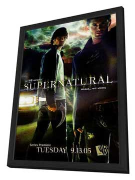 Supernatural (TV) - 27 x 40 TV Poster - Style B - in Deluxe Wood Frame