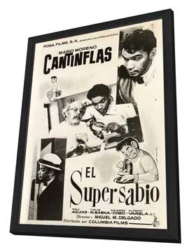 El Supersabio - 11 x 17 Movie Poster - Mexican Style A - in Deluxe Wood Frame