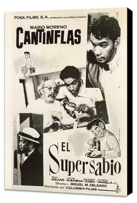 El Supersabio - 11 x 17 Movie Poster - Mexican Style A - Museum Wrapped Canvas