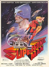 Supersonic Man - 11 x 17 Movie Poster - Spanish Style A