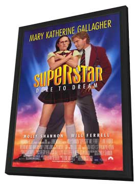 Superstar - 27 x 40 Movie Poster - Style A - in Deluxe Wood Frame