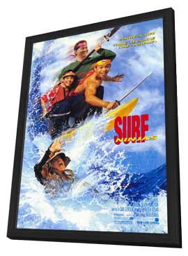 Surf Ninjas - 11 x 17 Movie Poster - Style A - in Deluxe Wood Frame