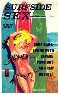 Surf Side Sex - 11 x 17 Retro Book Cover Poster