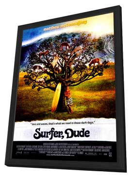 Surfer, Dude - 27 x 40 Movie Poster - Style A - in Deluxe Wood Frame