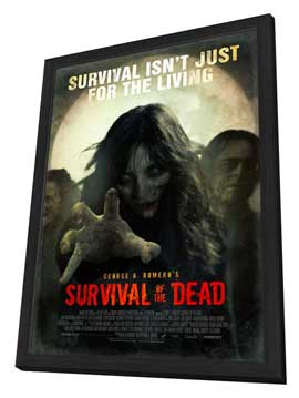 Survival of the Dead - 11 x 17 Movie Poster - Style A - in Deluxe Wood Frame
