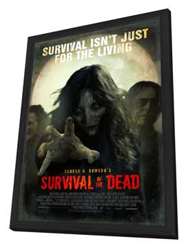 Survival of the Dead - 27 x 40 Movie Poster - Style A - in Deluxe Wood Frame
