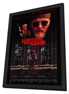 Surviving the Game - 11 x 17 Movie Poster - Style B - in Deluxe Wood Frame