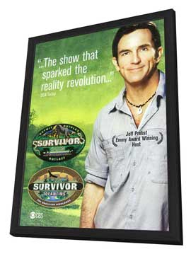 Survivor - 11 x 17 TV Poster - Style B - in Deluxe Wood Frame