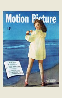 Susan Hayward - 27 x 40 Movie Poster - Motion Picture Magazine Cover 1930's Style A