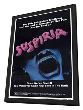 Suspiria - 11 x 17 Movie Poster - Style A - in Deluxe Wood Frame