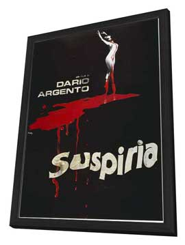 Suspiria - 27 x 40 Movie Poster - Italian Style B - in Deluxe Wood Frame
