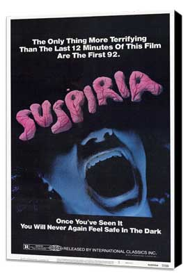 Suspiria - 11 x 17 Movie Poster - Style A - Museum Wrapped Canvas