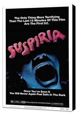 Suspiria - 27 x 40 Movie Poster - Style A - Museum Wrapped Canvas