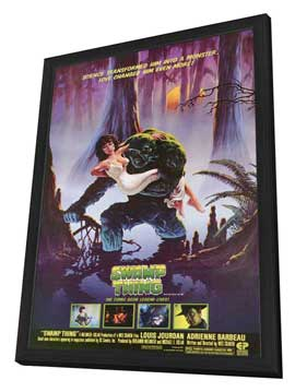 Swamp Thing - 11 x 17 Movie Poster - Style A - in Deluxe Wood Frame