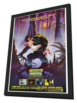 Swamp Thing - 27 x 40 Movie Poster - Style A - in Deluxe Wood Frame