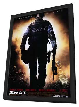 S.W.A.T. - 11 x 17 Movie Poster - Style A - in Deluxe Wood Frame