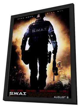 S.W.A.T. - 27 x 40 Movie Poster - Style A - in Deluxe Wood Frame