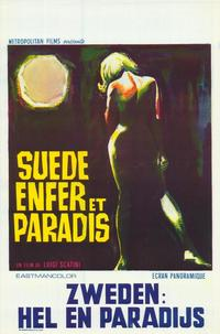 Sweden Heaven and Hell - 11 x 17 Movie Poster - Belgian Style A