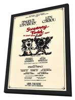 Sweeney Todd (Broadway) - 27 x 40 Movie Poster - Style A - in Deluxe Wood Frame