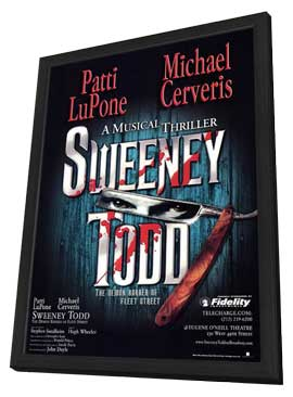 Sweeney Todd (Broadway) - 11 x 17 Poster - Style B - in Deluxe Wood Frame