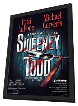 Sweeney Todd (Broadway) - 14 x 22 Poster - Style A - in Deluxe Wood Frame