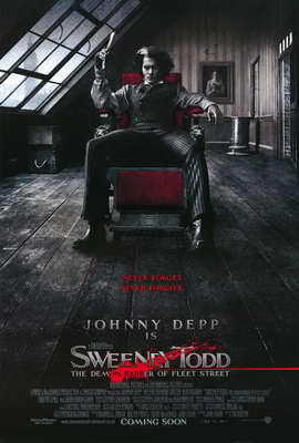Sweeney Todd: The Demon Barber of Fleet Street - 27 x 40 Movie Poster - Style B