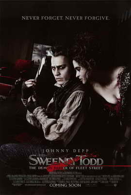 Sweeney Todd: The Demon Barber of Fleet Street - 27 x 40 Movie Poster - Style E