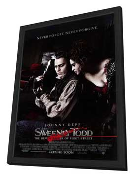 Sweeney Todd: The Demon Barber of Fleet Street - 11 x 17 Movie Poster - Style E - in Deluxe Wood Frame