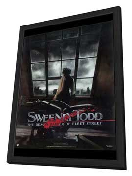 Sweeney Todd: The Demon Barber of Fleet Street - 11 x 17 Movie Poster - Style D - in Deluxe Wood Frame