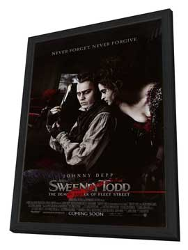 Sweeney Todd: The Demon Barber of Fleet Street - 27 x 40 Movie Poster - Style E - in Deluxe Wood Frame