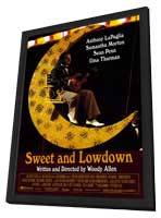 Sweet and Lowdown - 27 x 40 Movie Poster - Style A - in Deluxe Wood Frame