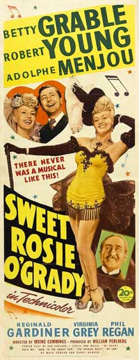 Sweet Rosie O'Grady - 14 x 36 Movie Poster - Insert Style A