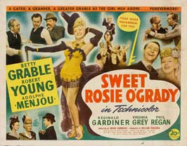 Sweet Rosie O'Grady - 22 x 28 Movie Poster - Half Sheet Style A