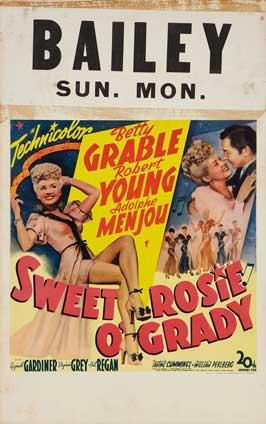 Sweet Rosie O'Grady - 27 x 40 Movie Poster - Style E