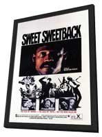 Sweet Sweetback's Baad Asssss Song - 27 x 40 Movie Poster - Style A - in Deluxe Wood Frame