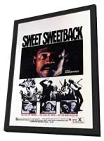 Sweet Sweetback's Baad Asssss Song - 11 x 17 Movie Poster - Style A - in Deluxe Wood Frame