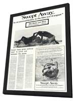 Swept Away by unusual destiny in blue sea of August - 11 x 17 Movie Poster - Style A - in Deluxe Wood Frame