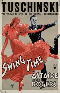 Swing Time - 11 x 17 Movie Poster - French Style A
