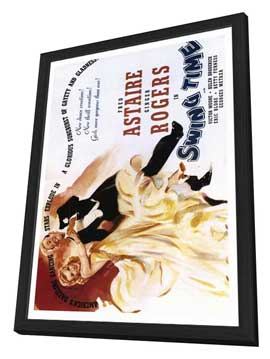 Swing Time - 27 x 40 Movie Poster - Style B - in Deluxe Wood Frame